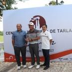 from left mr martin lorenzo-chairman and ceo centro azucarera de tarlac,justin quiban-champion pro and mr fernando cojuangco,president and coo,centro azucarera de tarlac